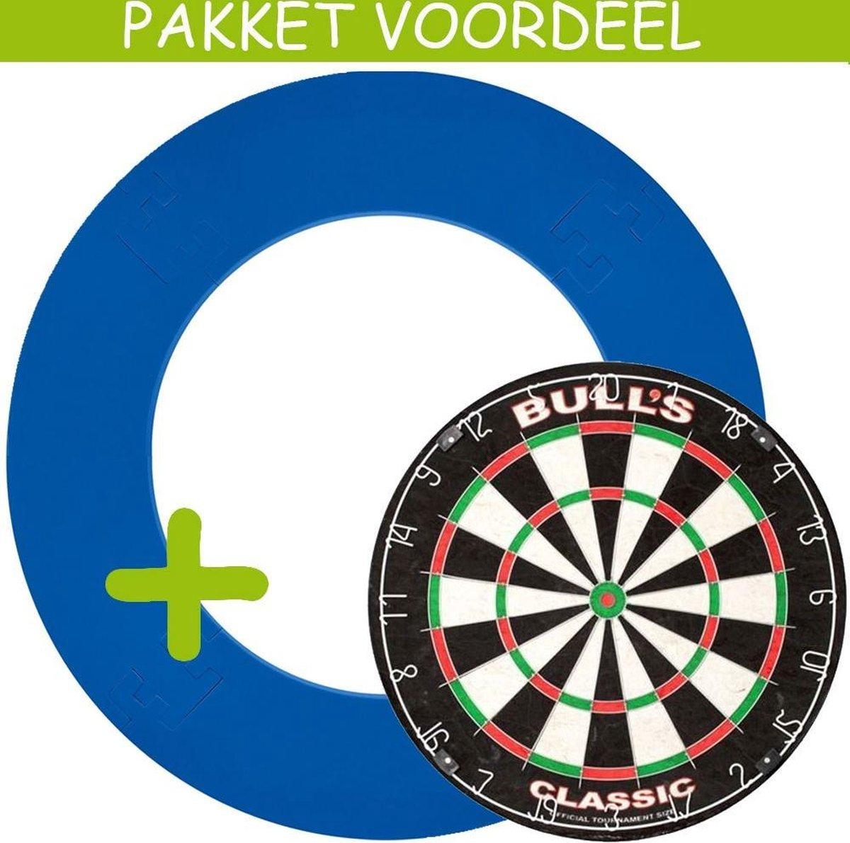 Dartbord Surround VoordeelPakket - Bulls Classic - EVA Surround-- (Aqua)