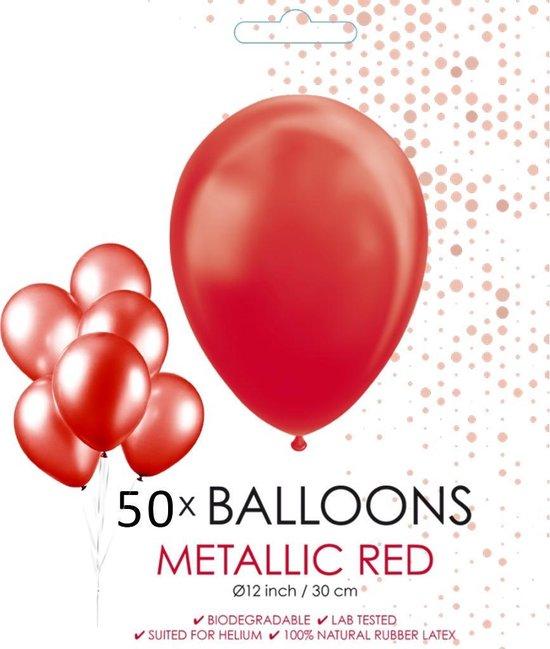 Globos Ballonnen 30,5 Cm Latex Rood Parelmoer 50 Stuks