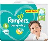 Pampers Baby Dry Luiers - Maat 6 - 15+ kg - 92 Stuks
