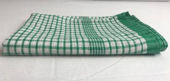 Theedoek Geblokt Groen 50 x 70 cm (set van 6)