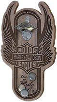 Harley-Davidson Winged Bar & Shield Magnetische Flessenopener
