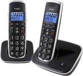 Fysic FX-6020 - Big Button Dect telefoon - 2 handsets - Zwart