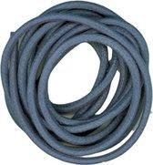 Cotton wax cord 2 mm/1 m blue - 6 stuk