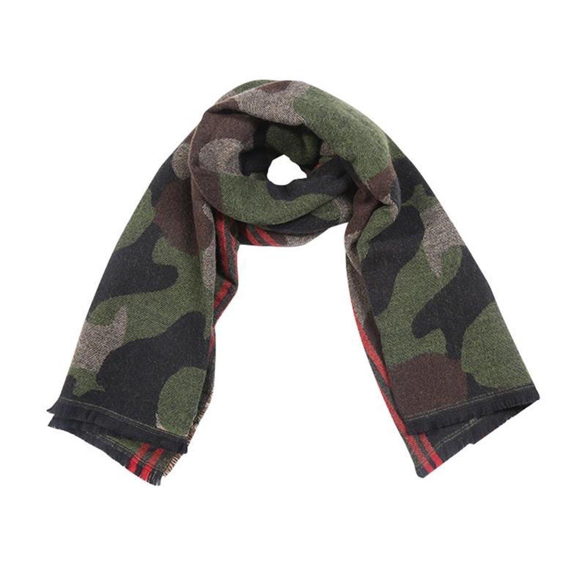 Leger print sjaal en muts