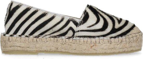 Sacha - Dames - Espadrilles met zebraprint - Maat 39