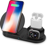 MMOBIEL 3 in 1 Draadloze QI Oplaad Station - Oplader - 10W - voor iPhone / Samsung / Apple Watch / AirPods