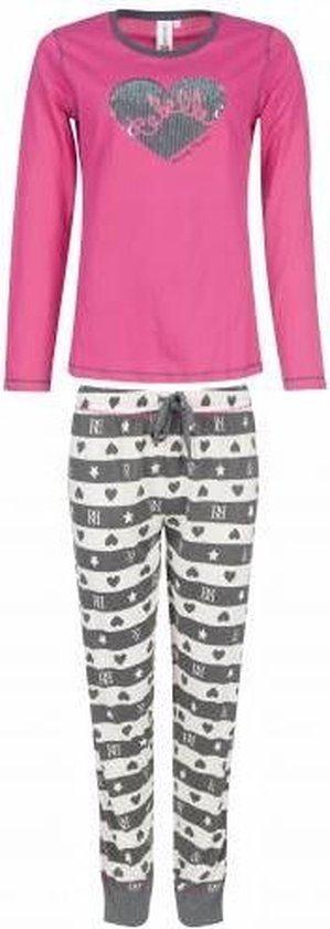 Rebelle dames pyjama Hearts 211-2  - 46  - Roze