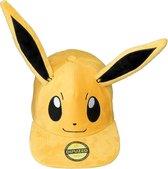 Pokémon Eevee Pluche Snapback Cap Pet met Oren Officieel - Bruin