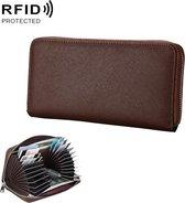Antimagnetic RFID Genuine Leather Passport / Card Holder / Car Keys Package(Coffee)