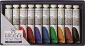 Talens plakkaatverf extra fijn, etui van 10 tubes in geassorteerde kleuren