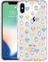 Apple iPhone Xs Hoesje Diamonds