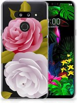 Back Cover LG G8 Thinq TPU Siliconen Hoesje Roses