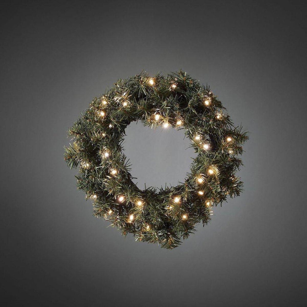 Konstsmide Christmas Voor buiten - LED sparrenkrans met sensor, 40 lmp