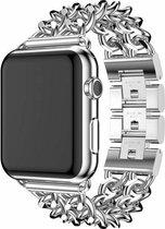 Apple watch stalen cowboy schakel band - zilver - 38mm en 40mm
