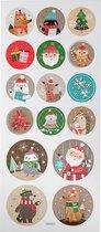 Stickers. kerstmis. 10x23 cm. 1 vel