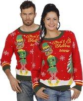 Kerst & Oud & Nieuw Kostuum | Kersttrui Rood Kerstelf | XXL | Carnaval kostuum | Verkleedkleding