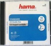 Hama Cd Box Dubbel - 10 stuks / Geseald