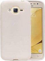 Wicked Narwal | Sand Look TPU Hoesje voor Samsung Galaxy J2 2016 J210F Wit