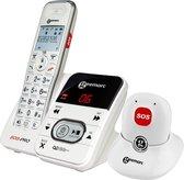 GEEMARC AmpliDECT 295 SOS Pro draadloze telefoon met 30 dB GELUIDSVERSTERKING voor SLECHTHORENDEN. Met ALARM Pendant en BEANTWOORDER