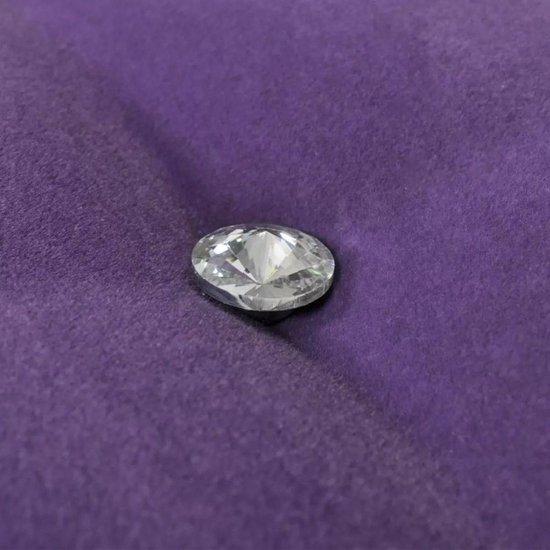 Fluwelen bank met kristallen knopen (paars)