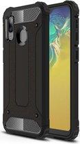 Samsung Galaxy A20E Hoesje Shock Proof Hybride Backcover Zwart