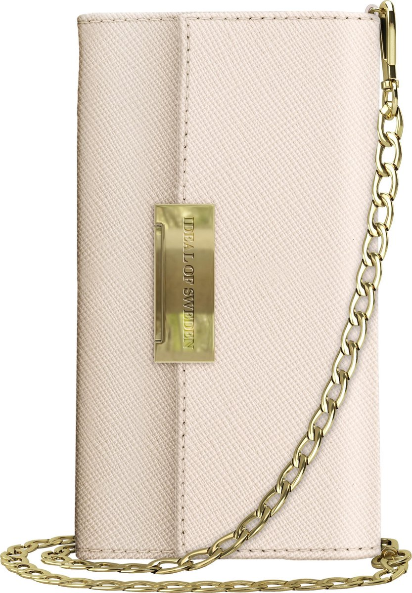 Afbeelding van product iDeal of Sweden iPhone Xr Crossbody Wallet Saffiano Beige