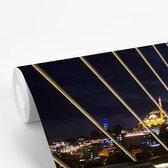 Foto vanaf een brug van Istanbul fotobehang vinyl breedte 540 cm x hoogte 360 cm - Foto print op behang (in 7 formaten beschikbaar)