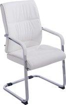 Clp Anubis - Bezoekersstoel - Kunstleer - Wit
