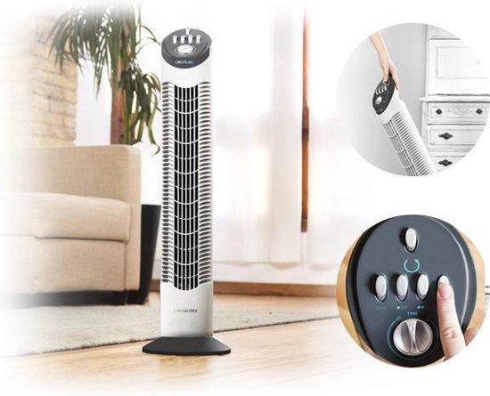 Cecotec Stille torenventilator - Toren ventilator staand - Timer - Wit