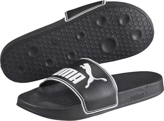 PUMA Leadcat Slippers Unisex - Black / White - Maat 39 - PUMA