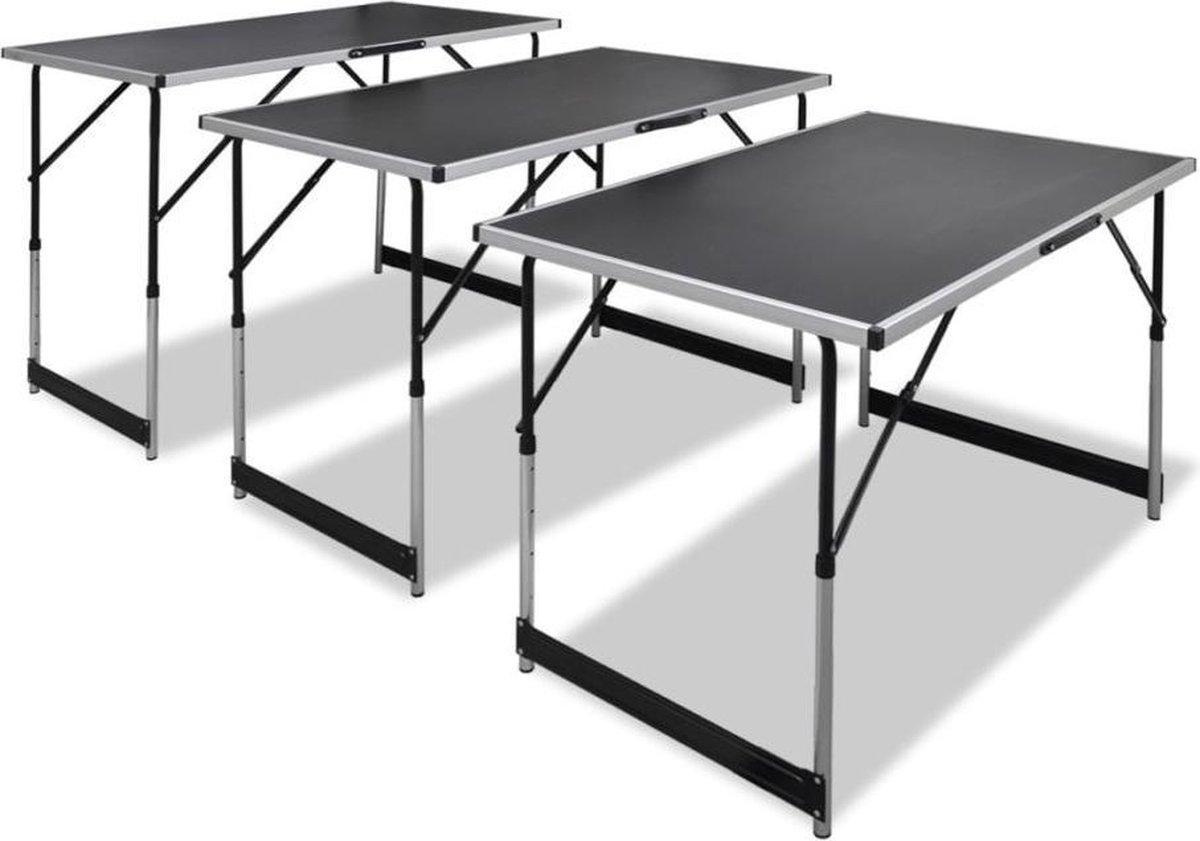 vidaXL Behangtafel - Inklapbaar - In hoogte Verstelbaar - 30 kg - 3 st