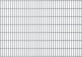 vidaXL Dubbelstaafmatten 2008 x 1430mm 30m Grijs 15 stuks