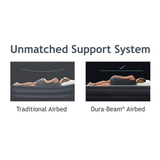 Intex Luchtbed Ultra Plush Headboard met ingebouwde pomp 64448