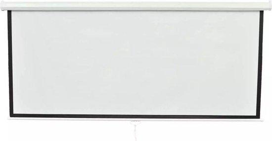 vidaXL - Projectiescherm mat wit 203x203 cm 240100 - vidaXL