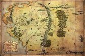 Lord of the Rings Poster Middle Earth kaart 61x91.5cm.