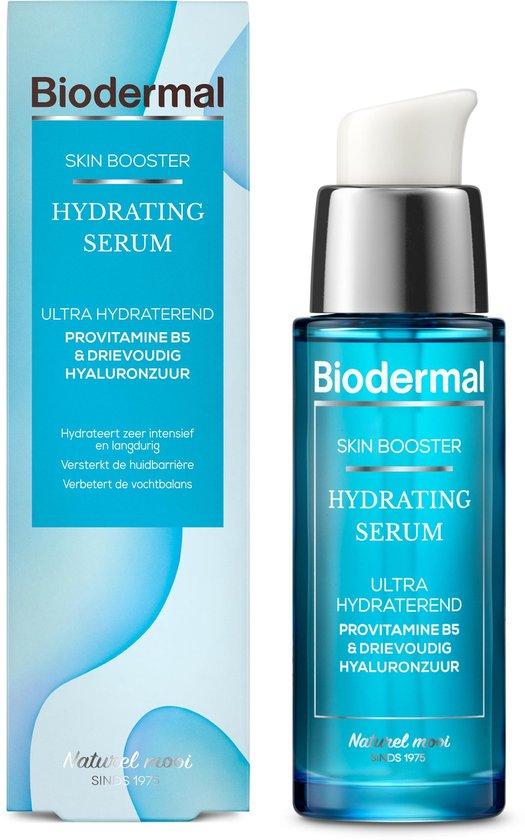 Biodermal Skin Booster Hydrating serum –  Ultra hydraterend, Hydrateert zeer intensief en langdurig met hyaluronzuur en Vitamine B - Hyaluronzuur serum 30ml
