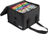 NASSAU FINE ART Duo Markers 168 stuks voor volwassenen - in handige transportdoos - Alcohol markers - Kleurstiften - Fineliners -Dikke stiften - Brushpennen - Markeerstiften