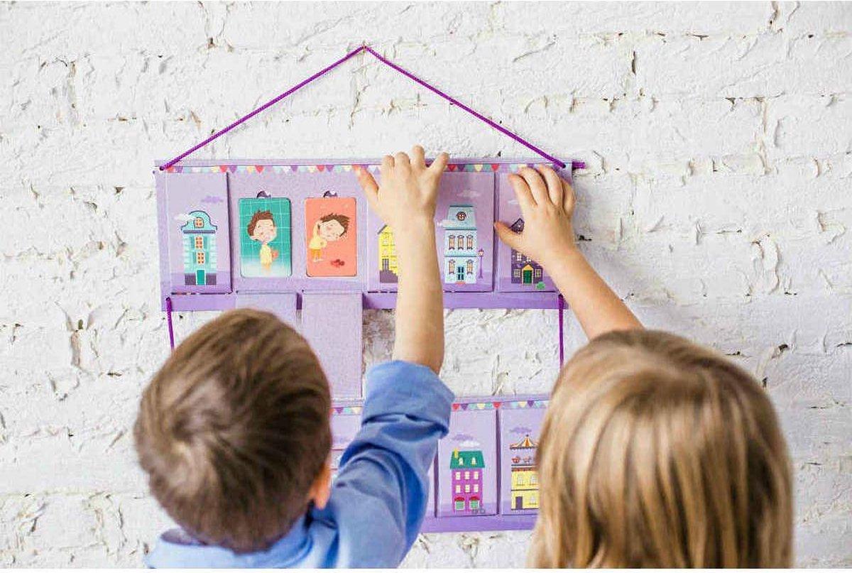 OKID Dagplanner voor Jongens - Planbord kind met 100 Kaarten - Pictogrammen voor Kinderen met activiteiten en taken - Beloningssysteem - Montessori Speelgoed - Educatief Speelgoed - Dagritme - Dagplanner Kind