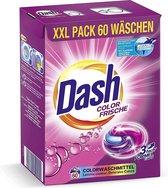 Dash® Color Fris 3 in 1 Caps XXL economy pak I 60 wasbeurten I Wasmiddelcapsules voor gekleurde was I 3 in 1 formule voor frisheid, zuiverheid en reinheid | 1.59 kg