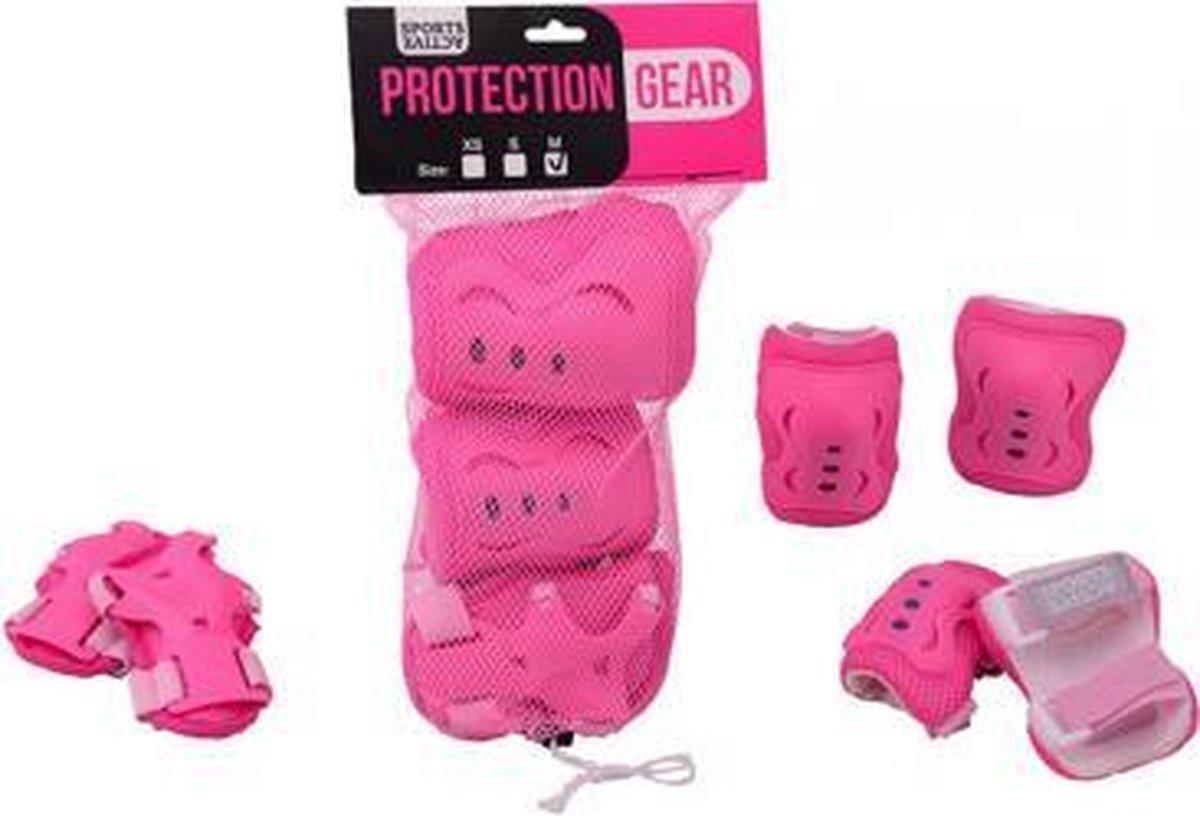 Johntoy Beschermset 3-delig kinderen roze maat s
