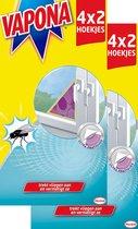 Vapona Vliegenvanger - Paarse Driehoekige Venstersticker Tegen Huisvliegen! (2x8st)