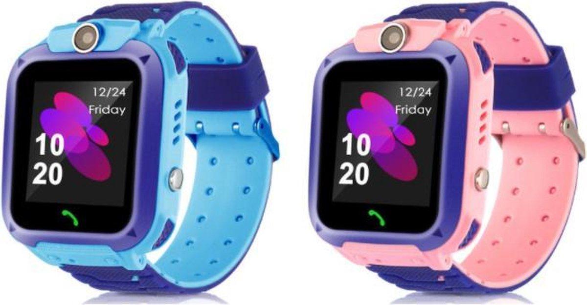 Kinderen Smart Horloge Sos Telefoon Horloge Smartwatch Voor Kinderen Met Sim Card Photo Waterdichte IP67 Kids Gift Voor Ios android Roze