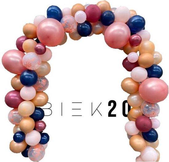 Ballonnenboog - Zalm - Roze - Deluxe - BIEK20 - met ophanghaakjes - Feest versiering - Party Decoratie - Verjaardag - 105 stuks