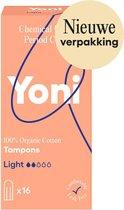 Yoni Tampon Light, 100 % Biologische katoen 16 st.