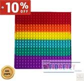 Fidget Pop it - Vierkant 40/40 cm - SUPER MEGA Pop-it - 441 pops - nieuw - Fidgetly