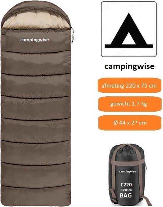 Campingwise all season slaapzak - incl. handige opbergzak