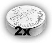 RENATA 377 / SR626SW zilveroxide knoopcel horlogebatterij 2 (twee) stuks