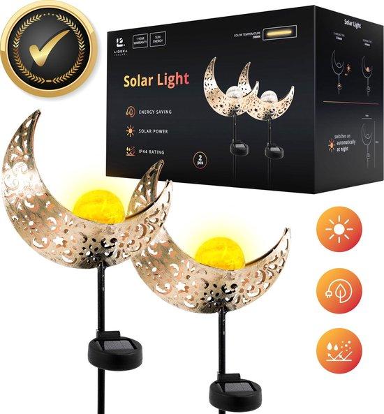 Lideka Solar Tuinverlichting - Maanlamp voor buiten op zonne energie - 600 mAh