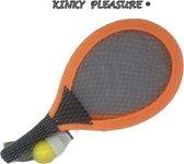 K Pleasure - Racket XL - Tennis Set XL - Kinder Tennis Set - Backminton Kit - Orange