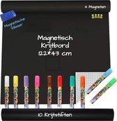 Krijtbord Sticker –  Krijtstiften – Magneten – Raamstiften - Wisser – Krijtbord – Markers – 43x122 cm